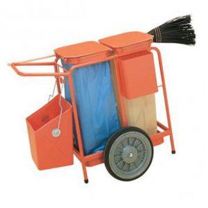 Carro De Limpieza Con Dos Soportes Para Saco 120Lt